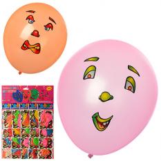 Кульки надувні MK 1102 з наклейками, 3 шт в пакеті, 20 шт на аркуші