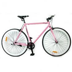 Велосипед 28д. G53JOLLY S700C-4 (1шт / ящ) сталь.рама 53см, алюм.СB, трек.кол.700C * 23C, двойн.обод, рожевий.