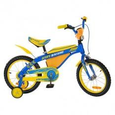 Велосипед PROFI UKRAINE дитячий 16д.16BX405UK(1шт/ящ) гол-жел, карет-амер, дзвінок, прист кілок, в коробці, 71-17-42см.