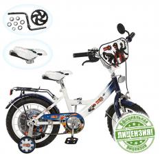 Велосипед дитячий 12д. GR 0001(1шт/ящ) GR, біло-блакитний.