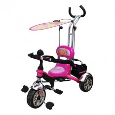 Велосипед М 5339(1шт/ящ) WX, EVA Foam, три колеса, з'їм кошик, дах, ручка, малини, в коробці, 58-87-49см.