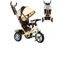 Велосипед M 3113-7A (1шт) три кол.рез (12/10), колясочний, своб.ход колеса, гальмо, подшіпн.бежевий