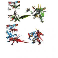 Конструктор 170-171 (16 шт) NJ, дракон, фігурки 2шт, зброя, 2віда (451дет і 472дет) в кор-ке