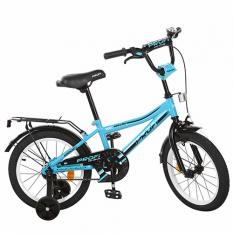 Велосипед дитячий PROF1 18д. L18104 (1шт/ящ) Top Grade, бірюзовий, дзвінок, доп. колеса