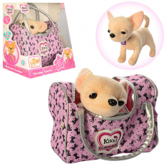 Собачка M 3482 UA (18шт) Кіккі, 22 см, муз (укр), в сумці, килимок, на батарейках, в розібраному вигляді, в коробці