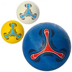 М'яч футбольний VA-0006 размер 5, резина, гольф, 400г, 3цвета, в кульке