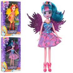 """Лялька DH2140 (72шт) """"LP"""" 25 см, з крилами, аксесуари, 3 види, в коробці, 29-17-5 см"""