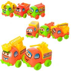Машинка 123-8 інер-я, 8см, 8 видів, в кульку, 8-8-5см