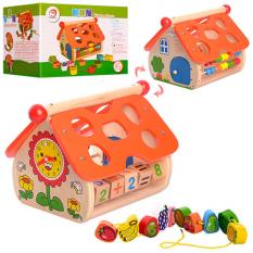 """Дерев'яна іграшка MD 1087 """"Гра"""", будиночок"""