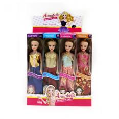 Лялька 1648-1 (240шт) 26 см, в коробці, 24 шт (4 види) в дисплеї, 29,5-25,5-19 см