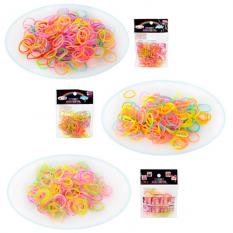 Набір для плетіння браслетів M 2741-2-3 (1200шт) резиночки (мікс кольорів), 3 види, в кульку, 7-7-1см