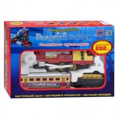 """Залізниця 70155(614) """"Блакитний вагон"""", музика, світло, дим"""