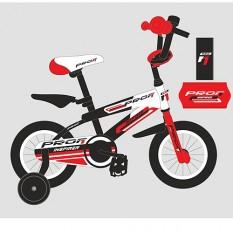 Велосипед дитячий PROF1 12д. G1255 (1шт / ящ) Inspirer, чорно-білий-червоний (мат)