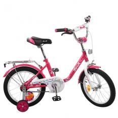 Велосипед дитячий PROF1 14д. L1482 (1шт / ящ) Flower, малиновий