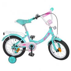 Велосипед дитячий PROF1 14д. Y1412 (1шт / ящ) Princess, м'ята