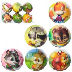 М'яч дитячий Фомова MS 1027 (1уп / 6шт) 4 дюйма, тварины, в упаковцІ
