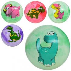 М'яч дитячий MS 1341 (240 шт) 9 дюймів, ПВХ, 70г, одностікерний, мікс видів / кольорів (динозаври)