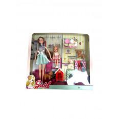 Лялька 7726-A2 (48шт) 29см, будиночок для тварин, дочка 12см, собачка 3шт, 5см, аксесс, в коробці, 36,5-34-7см