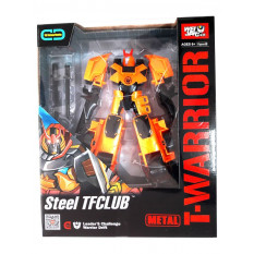 Трансформер J 8018 E (18шт) метал, робот + машинка, 18см, зброю, в коробці, 22-27-10см
