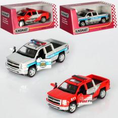 Машинка KT 5381 WPR KINSMART метал, інер-я, 1: 46, откр.дв, рез.колес, 2віда (поліція, пожежники), в кор-ке