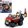 Конструктор SLUBAN M 38 B 0621 пожежний, джип, фігурка