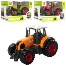 Трактор SQ90222-1 (144шт) метал, 9,5 см, 3 кольори, в коробці