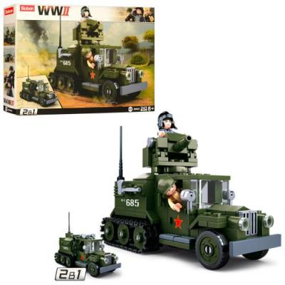Конструктор SLUBAN M 38 B 0685 Військова машина, в коробці