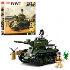 Конструктор SLUBAN M 38 B 0686 Військовий танк, в коробці