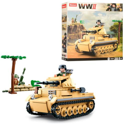 Конструктор SLUBAN M 38 B 0691 Військовий танк, в коробці