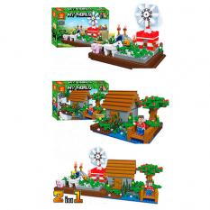 Конструктор ZB 9936 Minecraft, будова, фігурки, в коробці