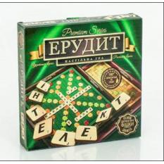 """Гра настільна 0356 """"Ерудит Premium Series"""", """"Данко-тойс"""", дерев'яні фішки, укр.-рос, в коробці"""