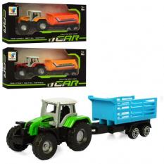 Трактор H 101 метал, з причепом, коробці