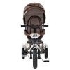 Велосипед M 3200 A-13 TURBOTRIKE (1 шт) три колеса гумовий (12/10), колясочний, поворот, передня кошик, сумка, шоколад