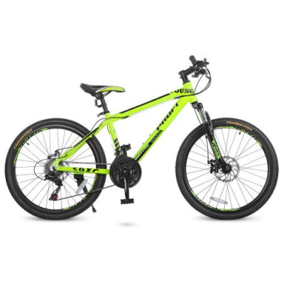 Велосипед 24 Д. G24YOUNG A24.1 (1шт / ящ) PROFI, Салатовий