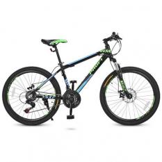Велосипед 24 Д. G24YOUNG A24.3 (1шт / ящ) PROFI, чорно-салатовий-блакитний