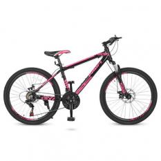 Велосипед 24 Д. G24YOUNG A24.4 (1шт / ящ) PROFI, чорно-рожевий