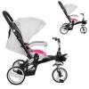 Велосипед M AL 3645-9 (1 шт/ящ) три колеса, EVA (12/10) колясочний, алюмінієвий, поворот, знімні колеса, 360, сіро-рожевий