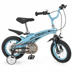Велосипед дитячий PROF1 12д. LMG 12121 (1 шт / ящ) Projective, магнієва рама, блакитний, додаткові колеса