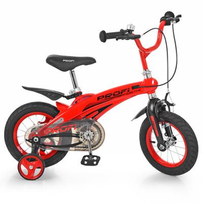 Велосипед дитячий PROF1 12д. LMG 12123 (1 шт / ящ) Projective, магнієва рама, червоний, додаткові колеса