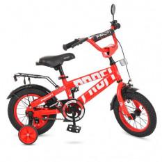 Велосипед дитячий PROF1 12д. T 12171 (1 шт/ящ) Flash, червоний, дзвінок, додаткові колеса