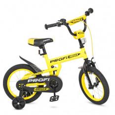 Велосипед дитячий PROF1 14д. L 14111 (1 шт / ящ) Driver, жовтий, додаткові колеса