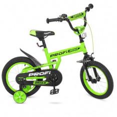 Велосипед дитячий PROF1 14д. L 14113 (1 шт/ящ) Driver, салатовий, додаткові колеса