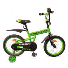 Велосипед дитячий PROF1 16д. L 16113 (1 шт/ящ) Driver, салатовий, додаткові колеса