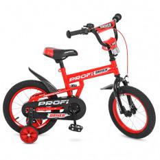 Велосипед дитячий PROF1 16д. L 16112 (1 шт/ящ) Driver, червоний, додаткові колеса