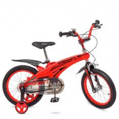Велосипед дитячий PROF1 16д. LMG 16123 (1 шт/ящ) Projective, магнієва рама, червоний, додаткові колеса