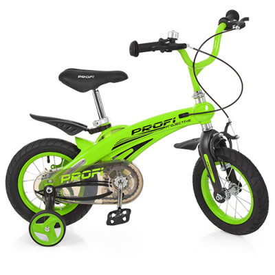 Велосипед дитячий PROF1 16д. LMG 16124 (1 шт/ящ) Projective, магнієва рама, зелений, додаткові колеса