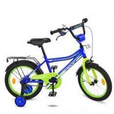 Велосипед дитячий PROF1 16д. Y 16103 (1 шт/ящ) Top Grade, синій, дзвінок, додаткові колеса