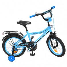 Велосипед дитячий PROF1 16д. Y 16104 (1 шт/ящ) Top Grade, бірюзовий, дзвінок, додаткові колеса