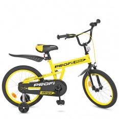 Велосипед дитячий PROF1 18д. L 18111 (1 шт/ящ) Driver, жовтий, дополнітеьние колеса