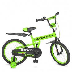 Велосипед дитячий PROF1 18д. L 18113 (1 шт/ящ) Driver, салатовий, додаткові колеса